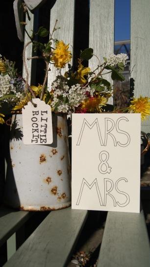 Mrs & Mrs Card £1.50