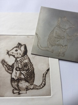 Little Rockit Mouse Etching