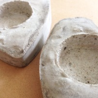 Concrete Heart Candle Holders