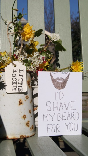 'I'd Shave My Beard For You' Card £2.25