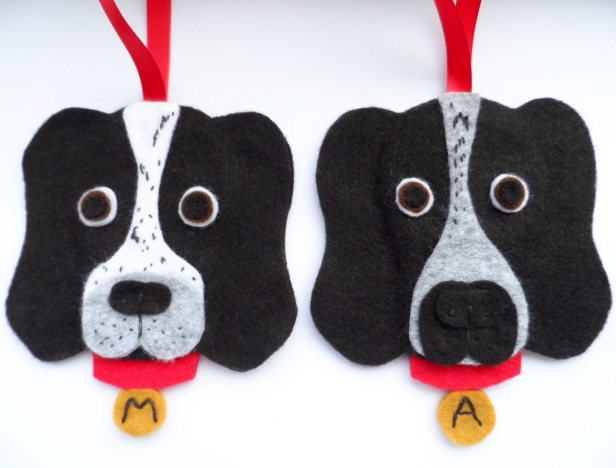 Custom Felt Dog Danglies
